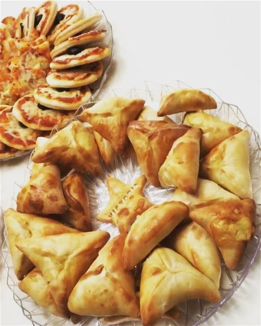 A Selection of Freshly Baked Pastries Mini Pizza, Cheese Twisters, and ...