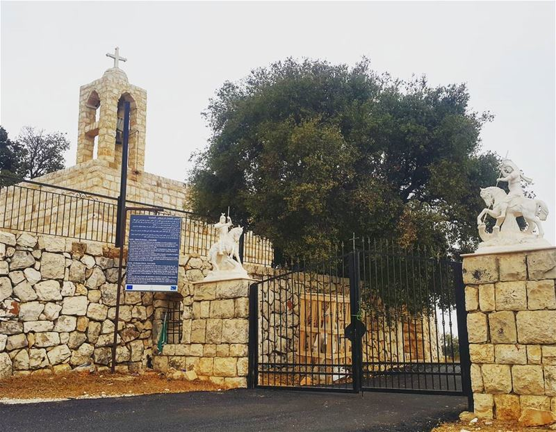 It's hard to get in shape spiritually if you only work out on sunday⛪... (Aïtou, Liban-Nord, Lebanon)