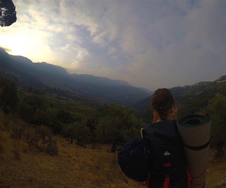 The only time I didn't miss the sunrise ⛰🌤 🌲  ihatetowakeupearly ... (Jezzîne, Al Janub, Lebanon)