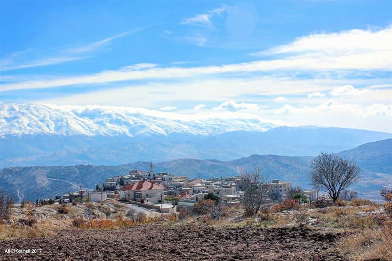 tb  bekaa  village  mountains  snow  nature  lebanon  colorful ... (Majdal Balhis, Béqaa, Lebanon)