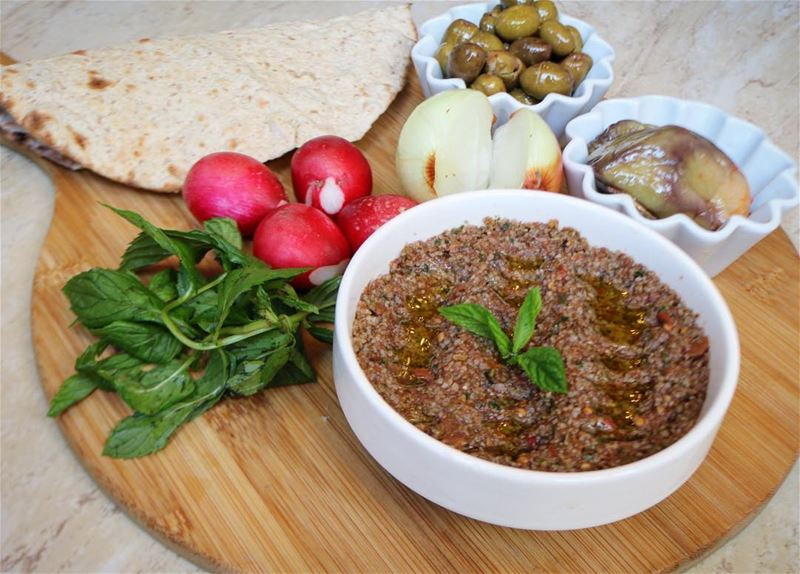 Kammounet banadoura AKA a special bulgur mix with herbs and spices with...