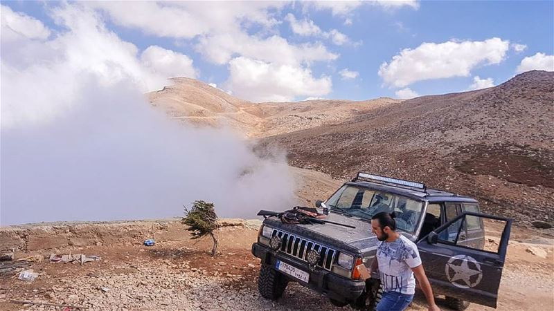 Sometimes all you need is a weekend and a dirt road..... jeep ... (Kniset Al Rab Daher Jered)
