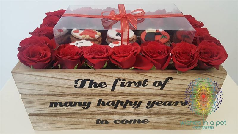 SurpriseMeBox by  wishesinapot 71159985 anniversarygift  cupcakes  roses...
