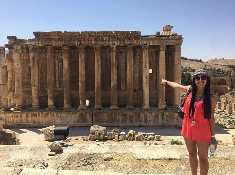Living the dream 🏛 by @sharonzgaib  Baalbeck Temples Castle Proud... (Temple of Bacchus)