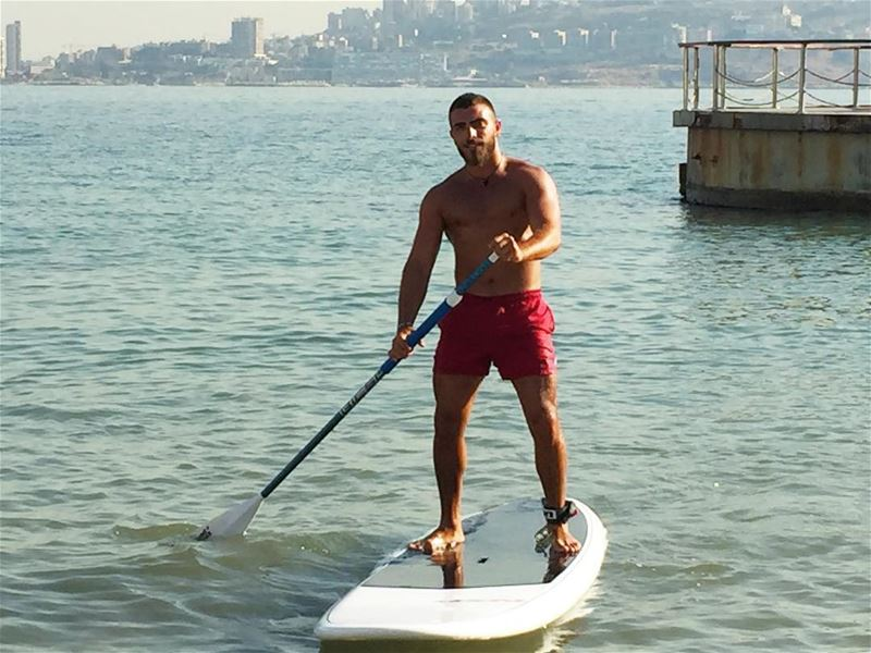 Training lifeguard Dany 🥇 champ... sup  sea  sun  standup  paddle ... (TIKI BAR / LAGON)