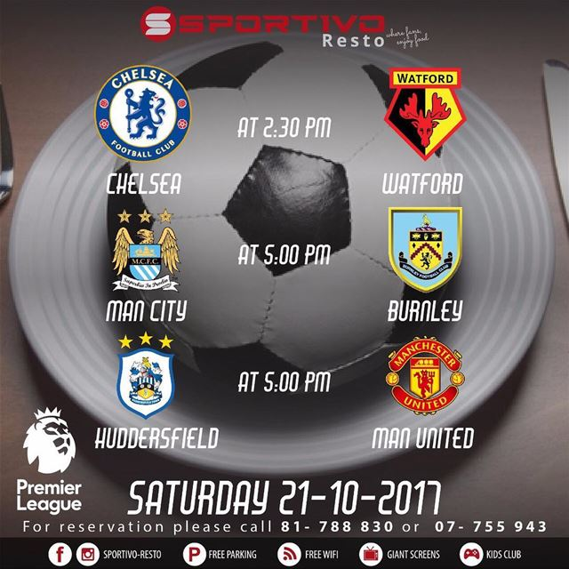 Premier League ⚽️⚽️ at  sportivo-resto is amazing with 90 inch LED screen �
