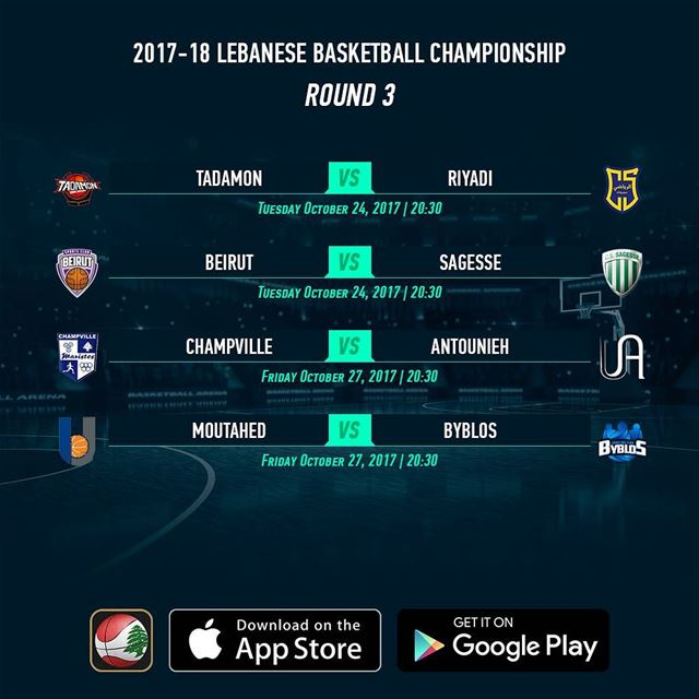 2017-18 Lebanese Basketball Championship - Round 3 - Schedule - Download...