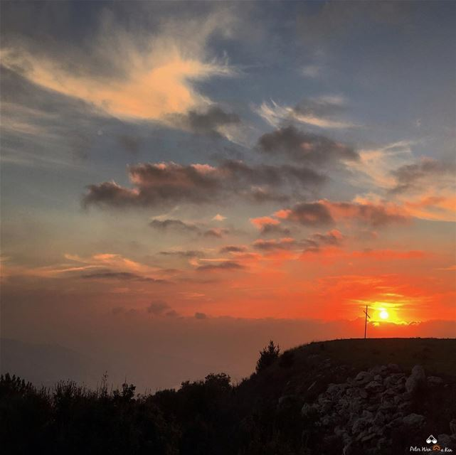 The skies proclaim the work of his hands 🌅  peterwenmaken ......... (El Kfour, Mont-Liban, Lebanon)