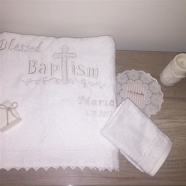 Blessed Day. 🙏 Write it on fabric by nid d'abeille  baptism  making ...