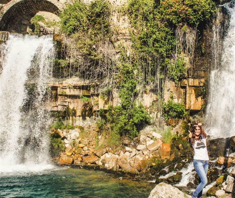 Major throwback to a wonderful waterfall in Lebanon!  lebanonlife  visit ... (Afqa)