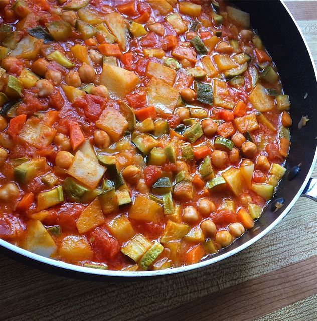 Mediterranean style ratatouille . Because it's meatless Monday letscook ...