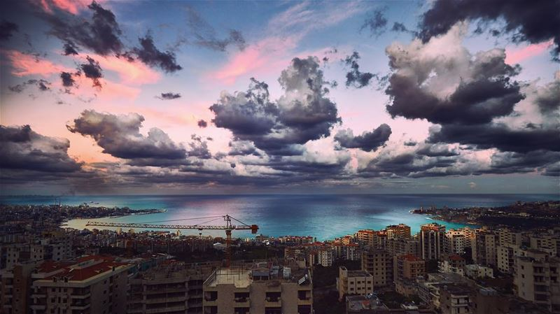 This is how the  Mediterranean looked like this  morning just around ... (جونية - Jounieh)