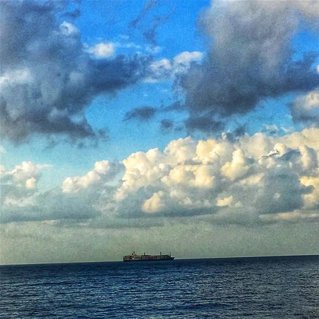 lebanon  beirut  sea  clouds  sky  sunset  ship  travel  nostalgia ...