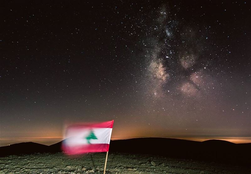 يا قطعة سما🇱🇧🌌🇱🇧..... lebanon independenceday proud flag... (Qornet es Saouda)