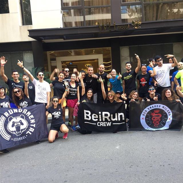 @beiruncrew the team that was formed few months ago, was able to gather... (Beirut, Lebanon)