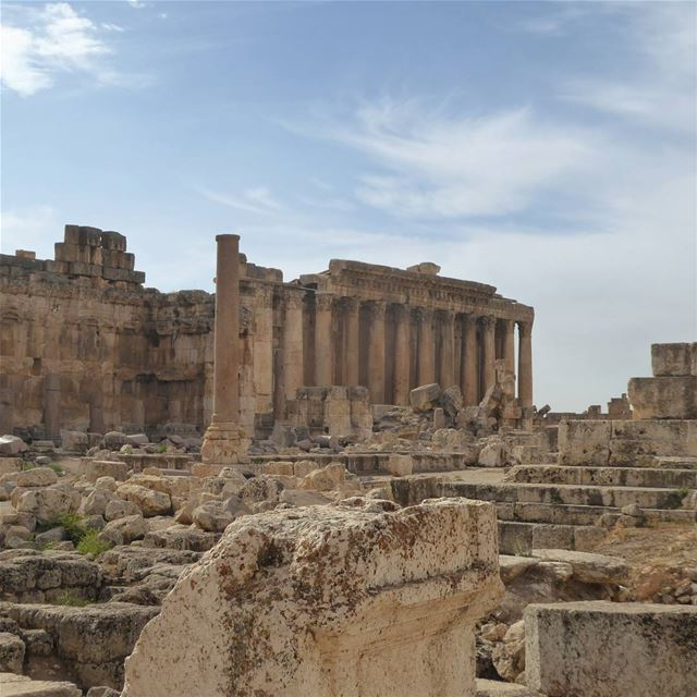 The ruins of Baalbek in the Bekaa Valley of Lebanon are one of the best... (Baalbek, Lebanon)