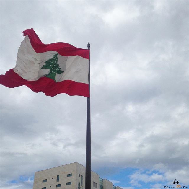 One flag 🇱🇧 one land 🏞 one heart ❤️ one hand 🤲🏻 Happy Independence... (Beirut, Lebanon)