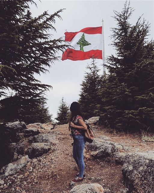 Where the first Lebanese flag was raised...thx u @assaadchbeir ❤️...... (Falougha, Mont-Liban, Lebanon)