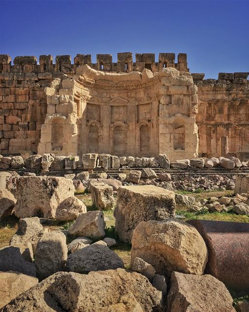 The soul crumbles, the rubbles lay bare, to the temple of our core,... (Baalbek , Roman Temple , Lebanon)
