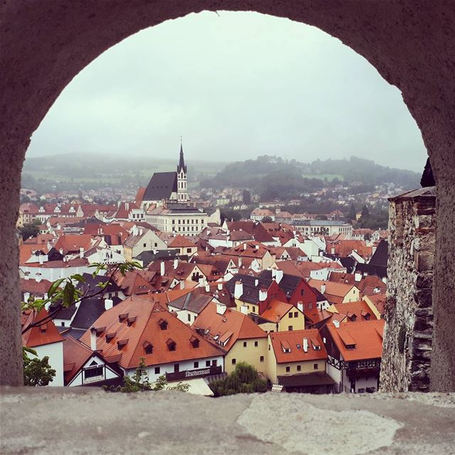 ceskykrumlov  castle 🏰  arcade  architecture  baroque  redroof  church ... (Cesky Krumlov)