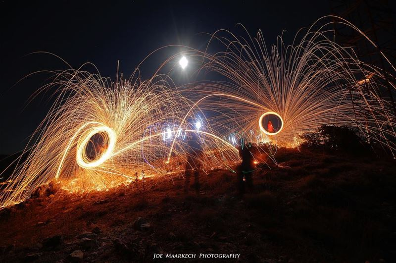 Fire In Shape!  lebanon  lebanese  fire  moon  creativity  creative ...