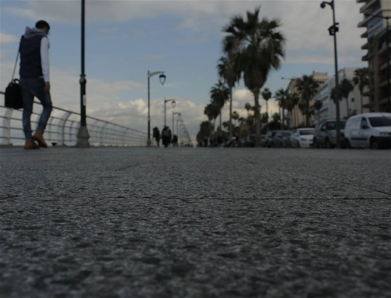 Many thoughts on mind... even while walking on the beautiful corniche!... (Beirut, Lebanon)