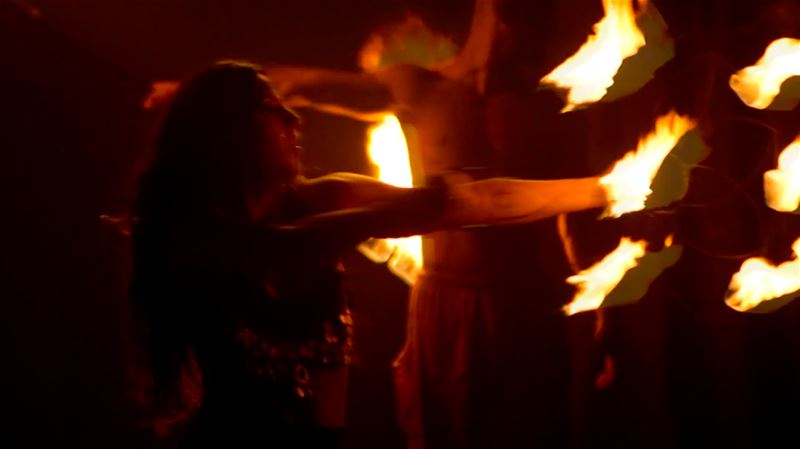 Fire Dancers @ The Palace Beirut; Photo by Tony Wahby