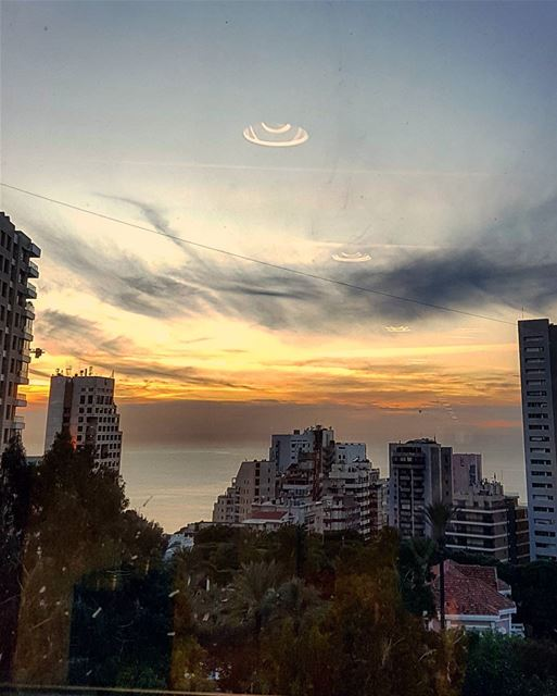 A Frowny Sunset of Monday...🔥☀🔥 windowview  sunsetoftheday ......... (Lebanese American University - LAU)