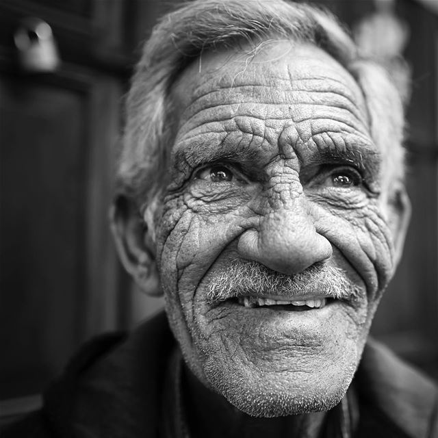 TIME. beautiful  smile shining through a  maze of  wrinkles. When I saw... (Sidon, Lebanon)