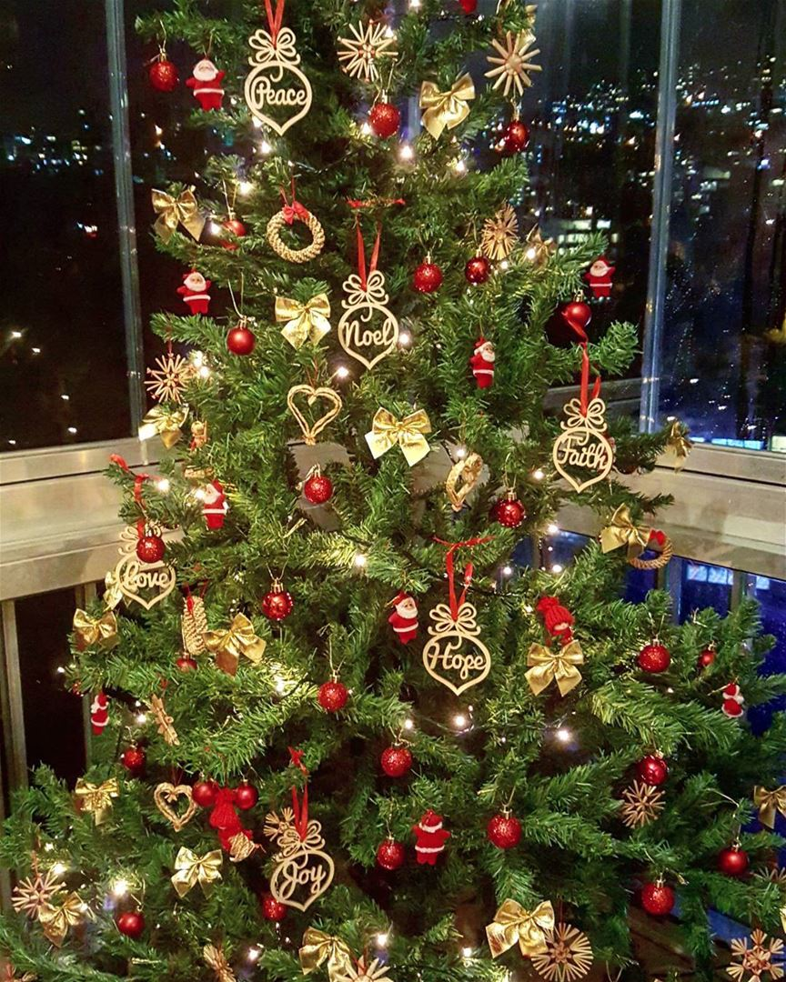 Noel... peace, hope, faith, love & joy ❤🎄  mychristmastree ..........
