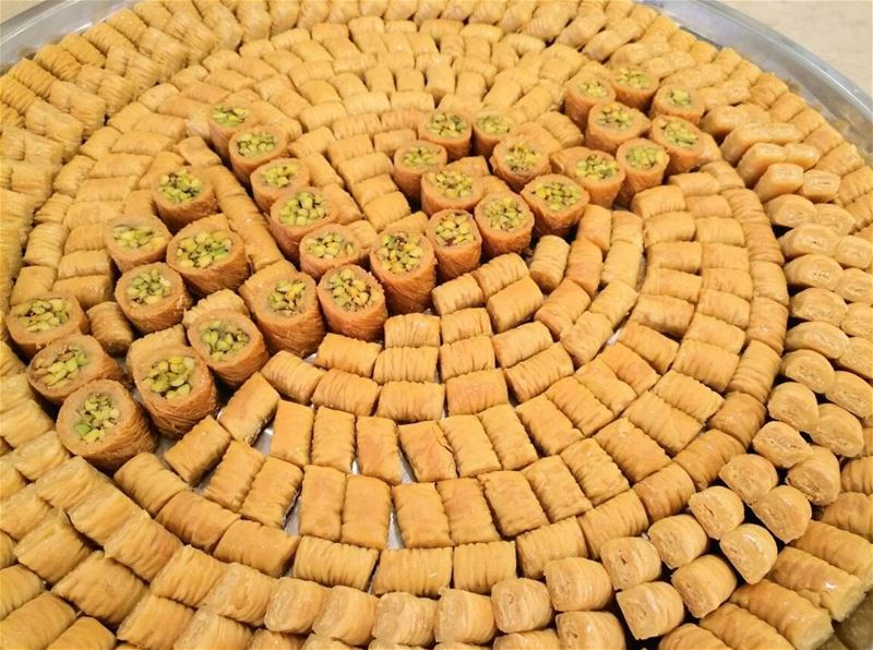 Can you read what's written?  معك for every Lebanese patriotic heart who... (Abed Ghazi Hallab Sweets)