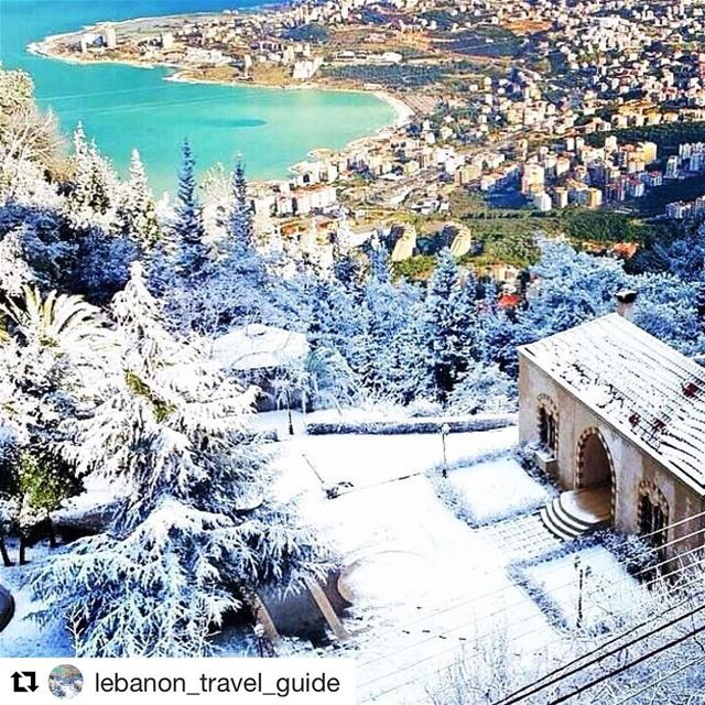 @lebanon_travel_guide 🌨❄️🌁Snow & Beach in ONE Pic !!! Only in Lebanon 🏂