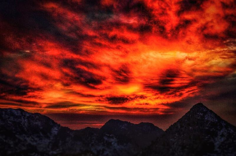 Burning from the inside...  lebanon  sunset  mountains  scenery  sunsets ...