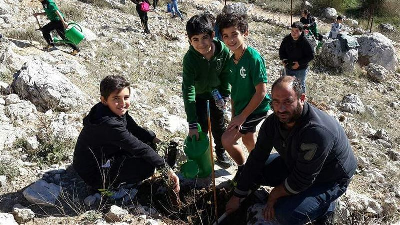 When IC students participate in  JabalMoussa's  reforestation...