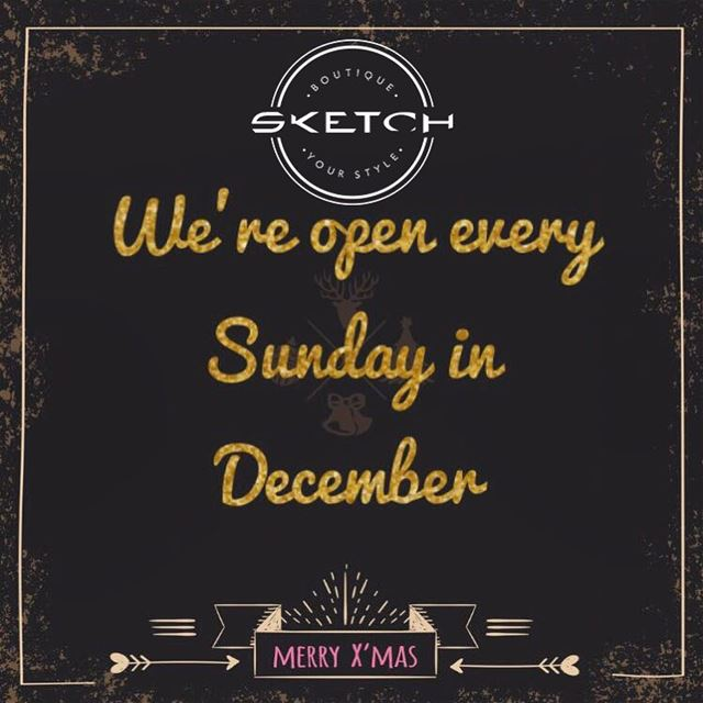 Opening every Sunday in December 🎅🏼🎄DailySketchLook 179 shopping ... (Mount Lebanon Governorate)