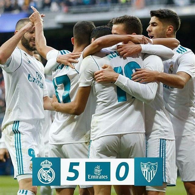 What a performance from the team! Great win! Hala Madrid ynada Mas♡...