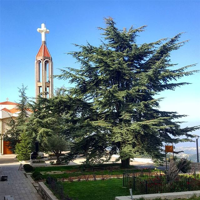 Peaceful morning to you all 🙇‍♀️❤💙 .......... Lebanon  Annaya ... (Mar Charbel Church)