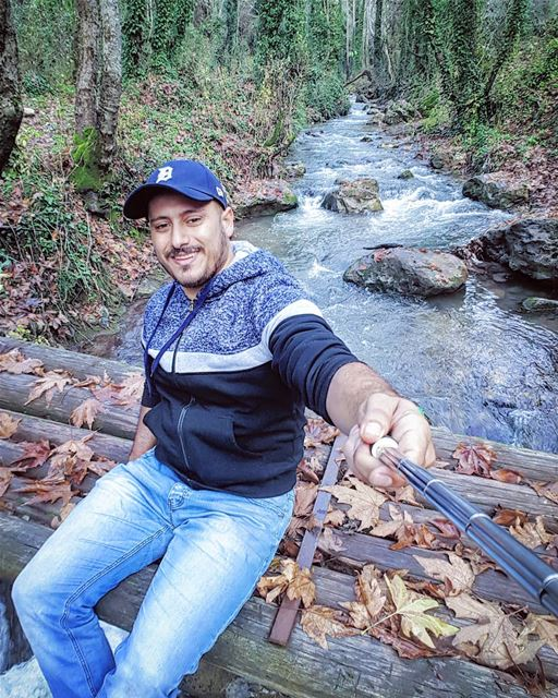 today  sunday  hiking  river  winter  bridge  selfie  smile  qadishav... (وادي قاديشا المقدس)