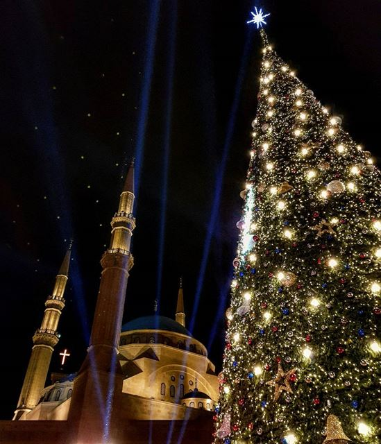 It's Christmas time. beirut  lebanon  discover  middleeast  xmas ... (Downtown Beirut)
