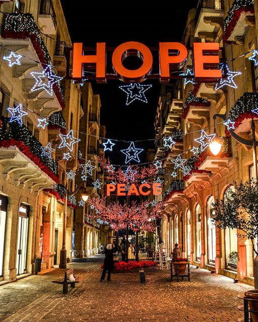 The beautiful evenings of Beirut Downtown  livelovebeirut. Christmas is... (Beirut, Lebanon)