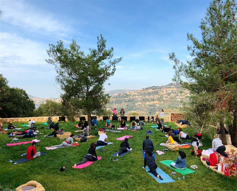 Serenity in December livelovebeirut  livelovelebanon  yogalebanon  yoga ... (Bkerzay)