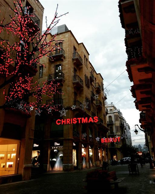 💫•••• lebanon beirut street streetphotography christmas joy love... (Downtown Beirut)