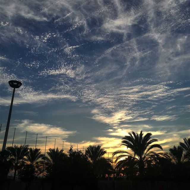 The sky above -  ichalhoub in  Tripoli north  Lebanon shooting with a...