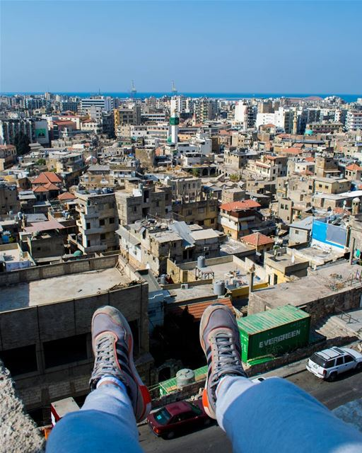 Rooftopping on Citadel of Raymond de Saint-Gilles before getting shouted... (Tripoli, Lebanon)