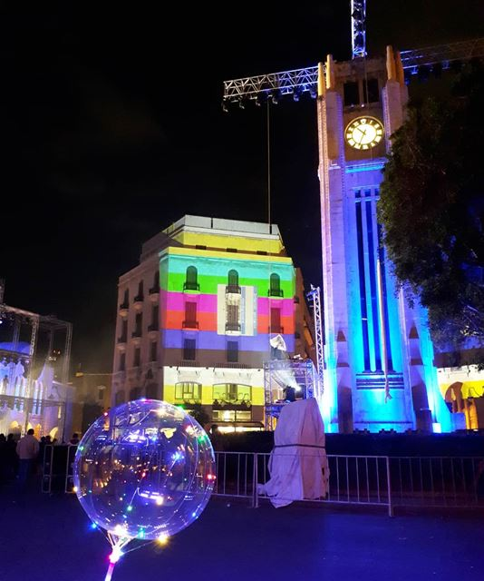 ☄New Year in Beirut⏳ nye  newyear  eve  preparation  lights  balloons ... (Downtown Beirut)