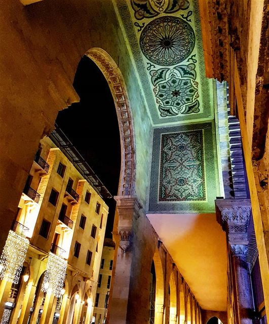 Beirut Arches.. lebanon  mosque  design  calligraphy  archaeology ... (Downtown Beirut)