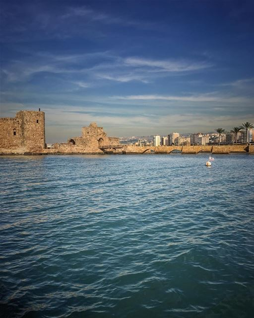 Unburden these wings set them ablaze, soar high and sail away, let cities... (Sidon Sea Castle)