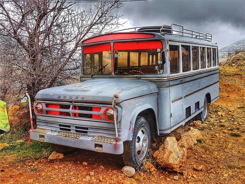 They don't make them like this anymore  schoolbus  retro  old  vintage ... (Chabrouh-Faraya)