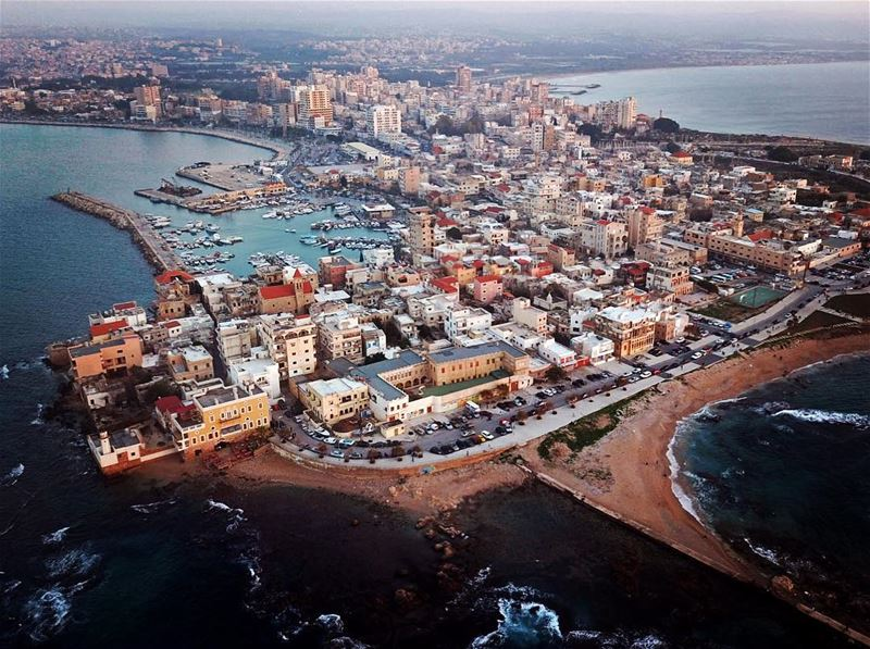 Home from above  airphotography  dronephotography  sea  seaside ... (Sur, Al Janub, Lebanon)