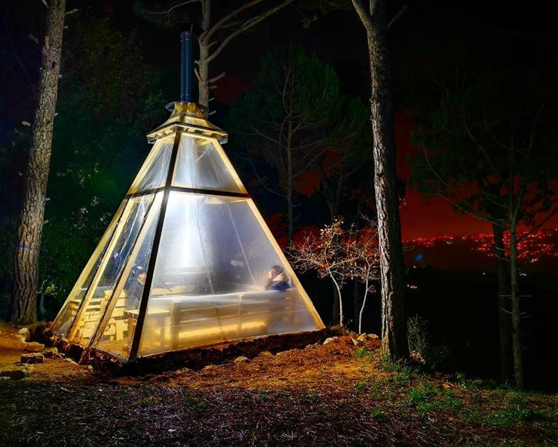teepee  at @lecamp_deirelharef  livelovecamp @wildernesslebanon ...
